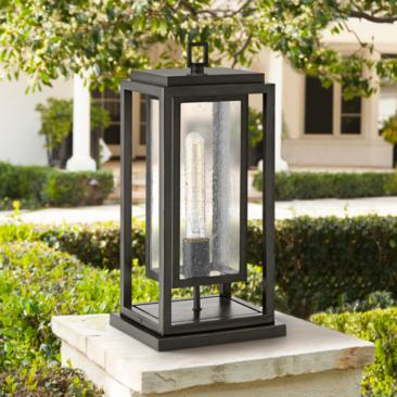 "Republic 16 1/2"" High Oil-Rubbed Bronze Outdoor Pier Light"