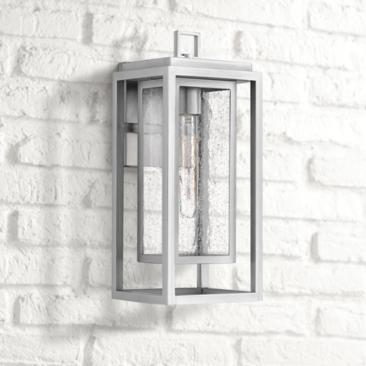 "Hinkley Republic 16"" High Satin Nickel Outdoor Wall Light"