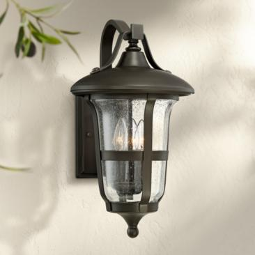 "Birmingham 18 1/2"" High Bronze 3-Light Outdoor Wall Light"
