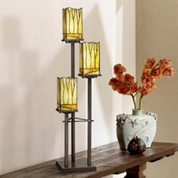 Sedona Collection 3-Tier Console Tiffany Table Lamp