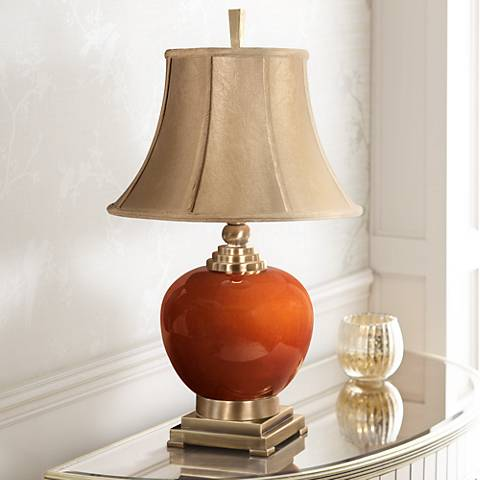 Uttermost Daviel Cinnamon Red Table Lamp