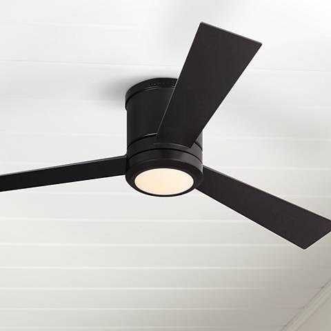 "52"" Clarity Oil Rubbed Bronze Hugger LED Ceiling Fan"