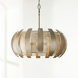 "Varaluz Sawyers Bar 24"" Wide Havana Gold 4-Light Pendant"