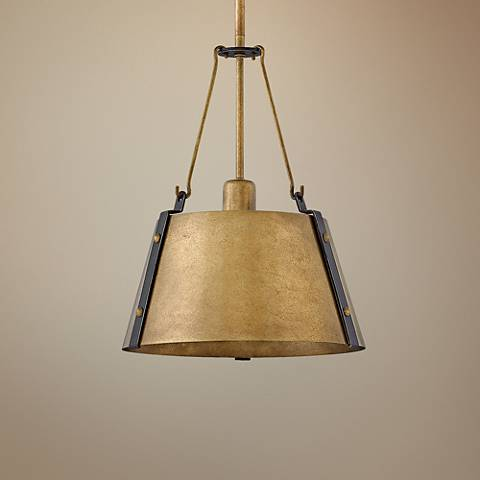 "Hinkley Cartwright 11 1/2"" Wide Rustic Brass Mini Pendant"