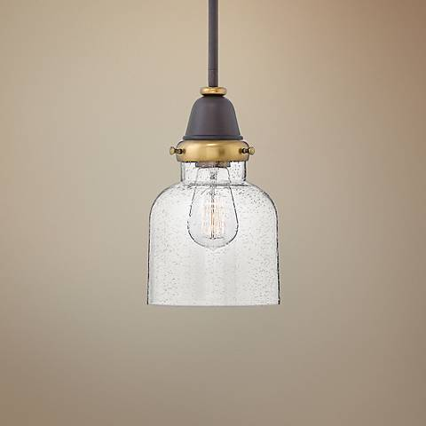 "Hinkley Academy 6 1/2"" Wide Oil-Rubbed Bronze Mini Pendant"