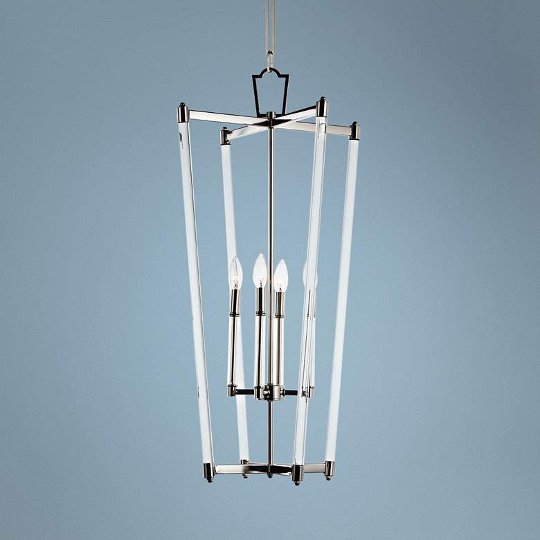 "Maxim Lucent 17 1/2"" Wide Polished Nickel 4-Light Pendant"