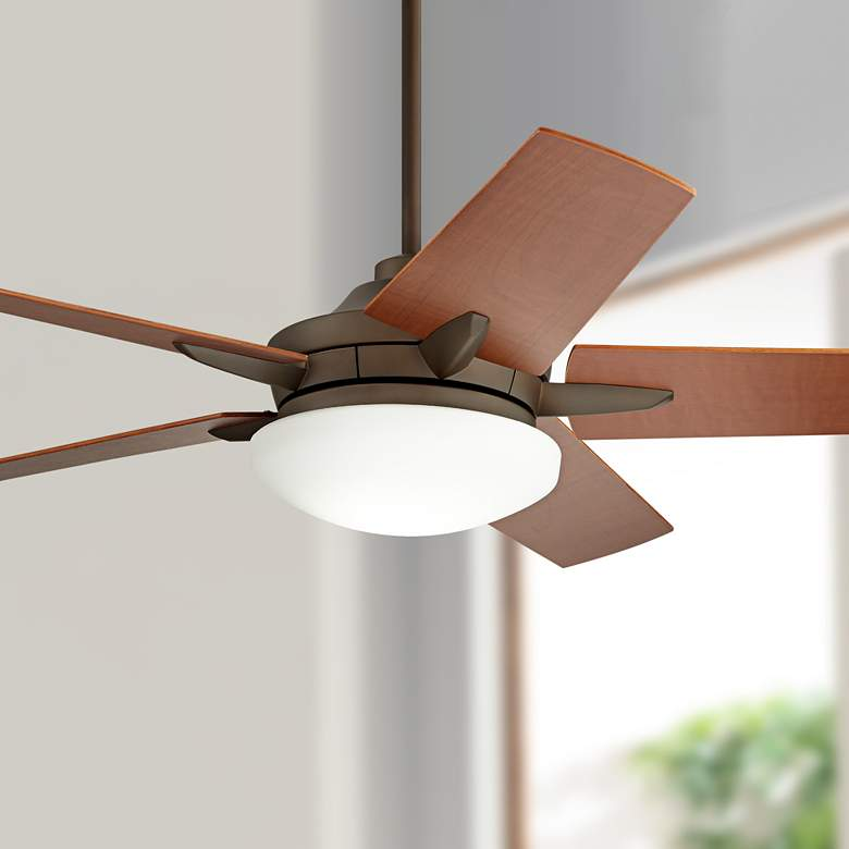 "56"" Casa Endeavor® Bronze and Walnut LED Ceiling Fan"