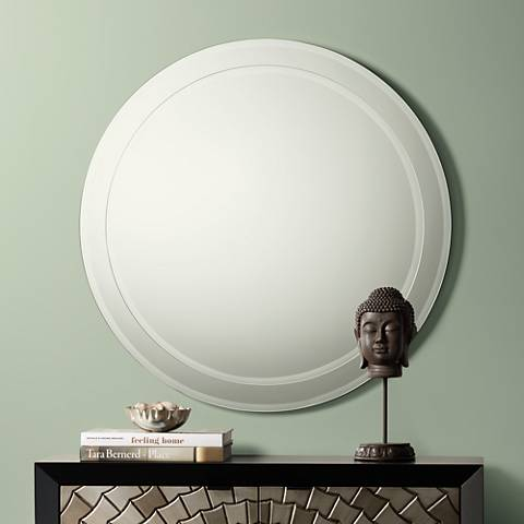 "Possini Euro Lanesborough 33"" Round Stacked Mirror"