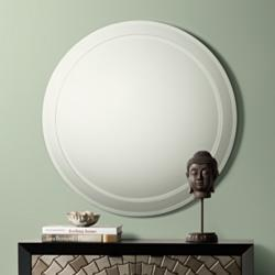 "Possini Euro Lanesborough 33"" Round Stacked Wall Mirror"