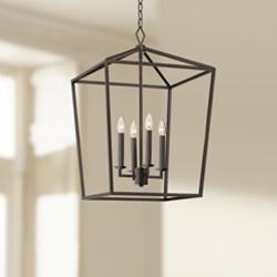 "Madison 18"" Wide Bronze 4-Light Entry Pendant"
