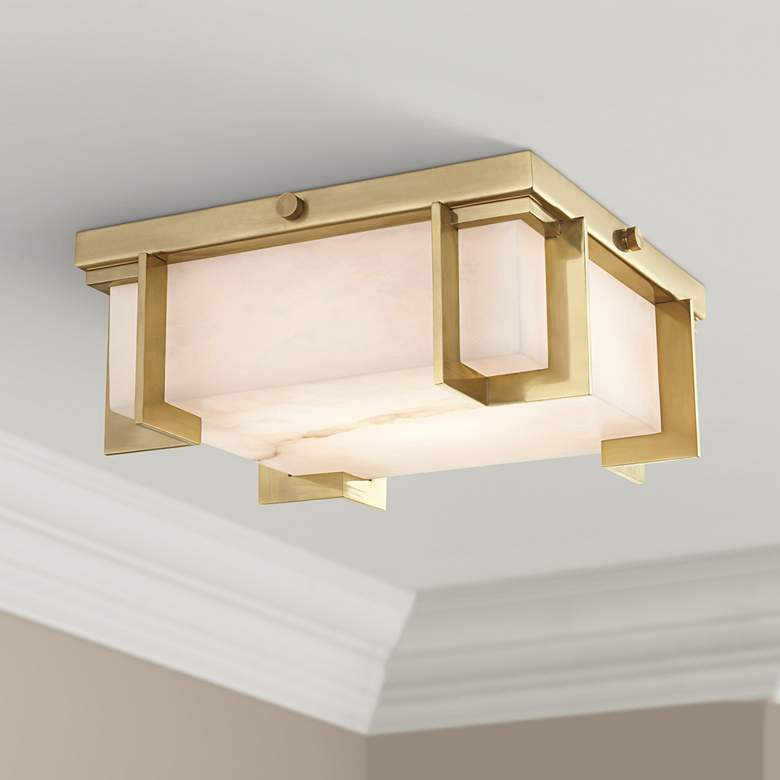 "Hudson Valley Delmar 10 1/4""W Aged Brass LED"