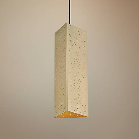 "Mitzi Aiko 5 1/4"" Wide Aged Brass LED Mini Pendant"