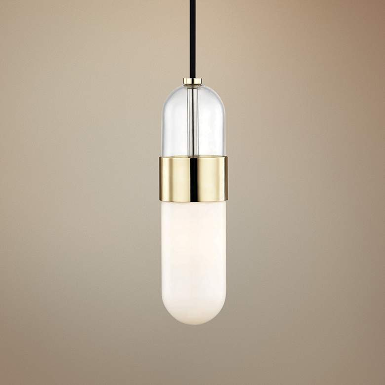 "Mitzi Emilia 4 3/4"" Wide Polished Brass LED"
