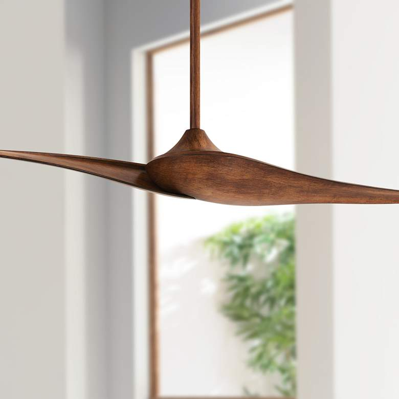 "60"" Minka Aire Wave II Distressed Koa DC Ceiling Fan"