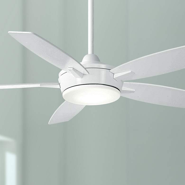 "52"" Minka Aire Espace White LED Ceiling Fan"
