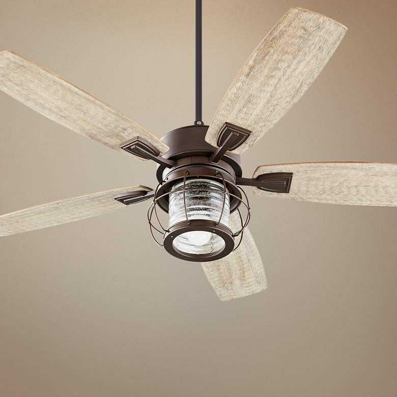 "52"" Quorum Galveston Oiled Bronze Ceiling Fan"