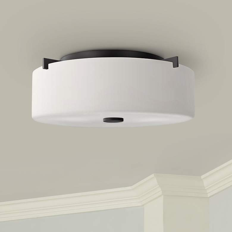 "Feiss Sunset Drive 13 1/2"" Wide Bronze Ceiling"