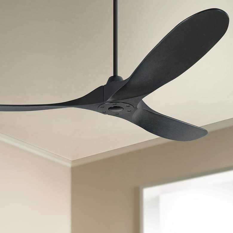 "60"" Monte Carlo Maverick Matte Black Ceiling Fan"