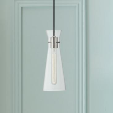 "Mitzi Anya 5 1/2"" Wide Polished Nickel Mini Pendant"