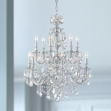 "James R. Moder Brindisi 28"" Wide Silver 12-Light Chandelier"