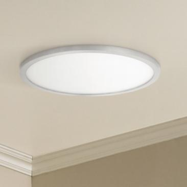 "Maxim Wafer 15""W Satin Nickel 3000K LED Round Ceiling Light"