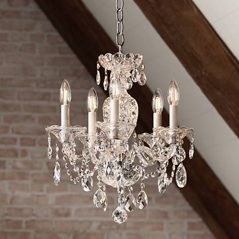 "Schonbek Sterling 16"" Wide Heritage Crystal Chandelier"