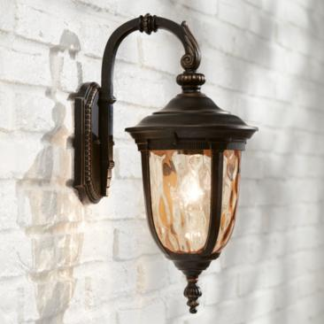 "Bellagio 16 1/2"" High Bronze Downbridge Outdoor Wall Light"