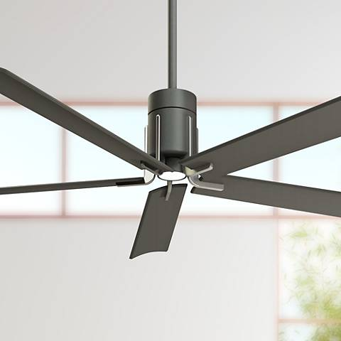 "60"" Minka Aire Clean Grey Iron LED Ceiling Fan"