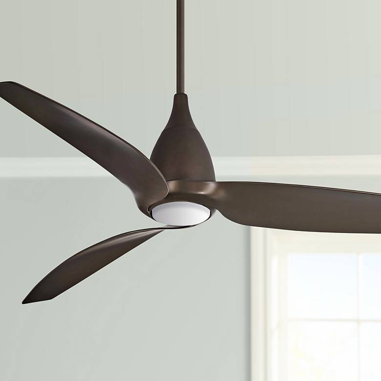 "60"" Minka Aire Tear Bronze LED Ceiling Fan"
