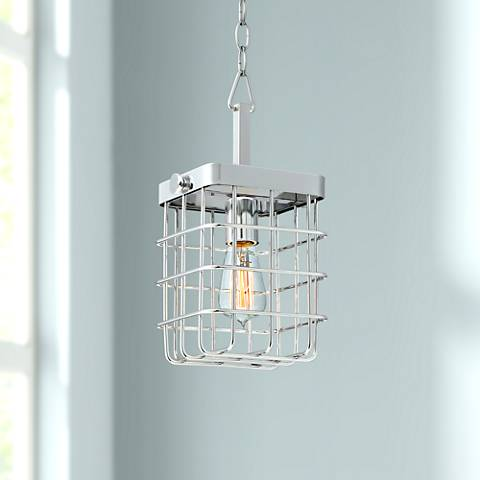 "Possini Euro Lair 7"" Wide Chrome Mini Pendant"