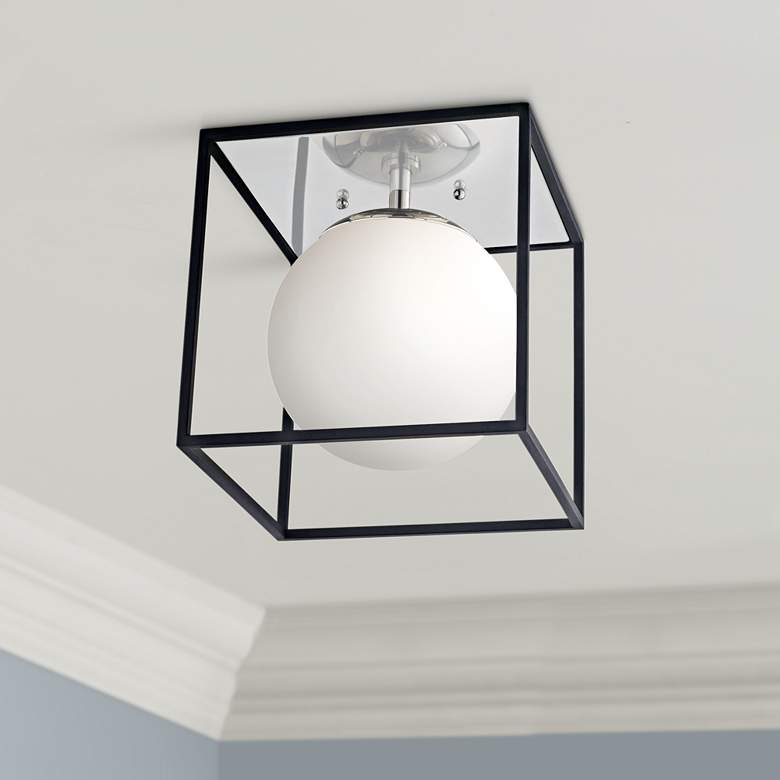 "Mitzi Aira 9 1/2"" Wide Polished Nickel Ceiling"