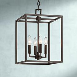 "Mortimer 12"" Wide Bronze 4-Light Entry Mini Pendant"