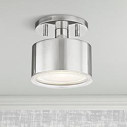 "Mitzi Nora 5 1/4"" Wide Polished Nickel LED Ceiling Light"