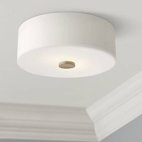 "Mitzi Sophie 12"" Wide Polished Nickel Ceiling Light"