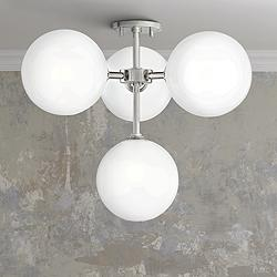 "Mitzi Ashleigh 20 1/4""W Nickel 4-Light LED Ceiling Light"