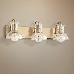 "Mitzi Riley 24"" Wide Aged Brass 3-Light Bath Light"