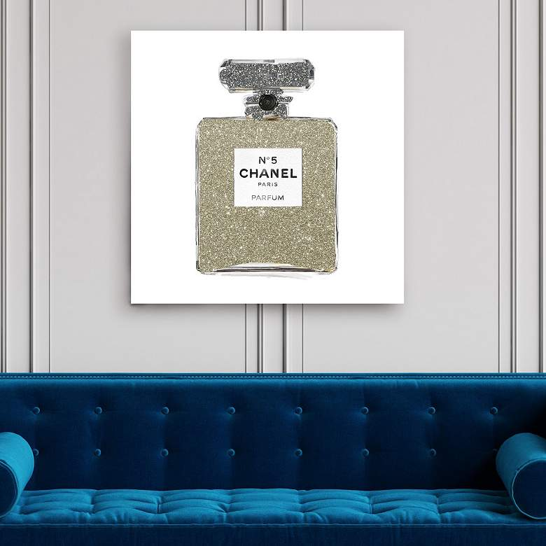 Champagne Classic Number 5 Canvas Wall Art
