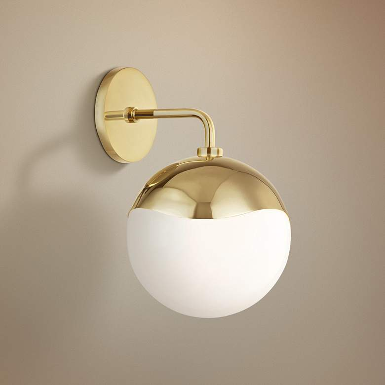 "Mitzi Ella 12"" High Polished Brass Wall Sconce"