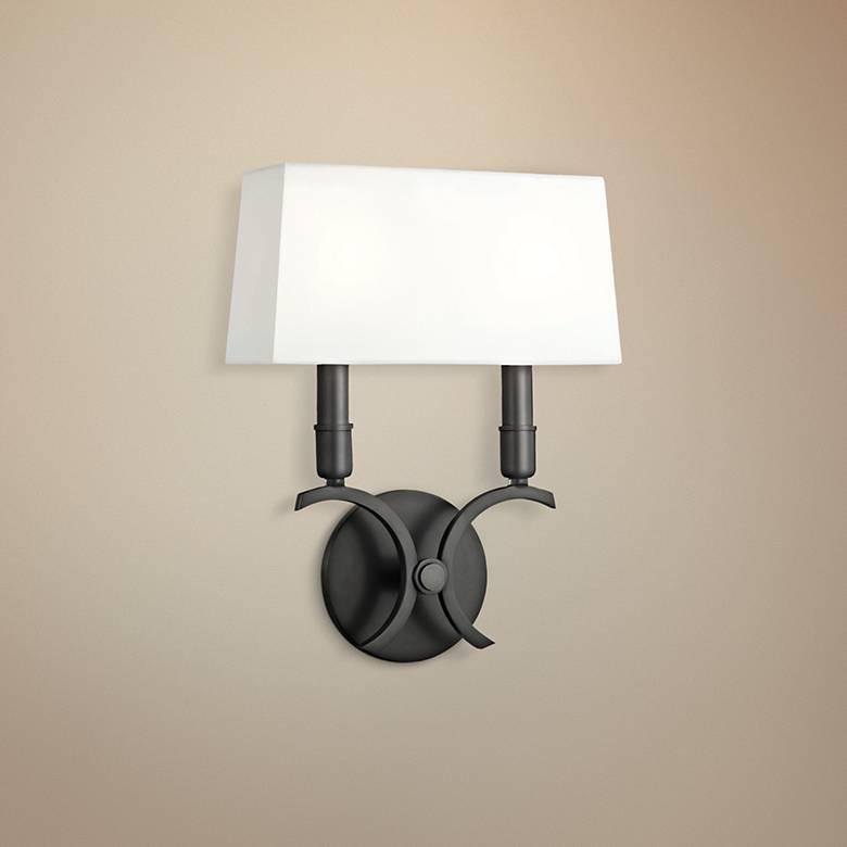 "Mitzi Gwen 13 1/4"" High Old Bronze 2-Light Wall Sconce"
