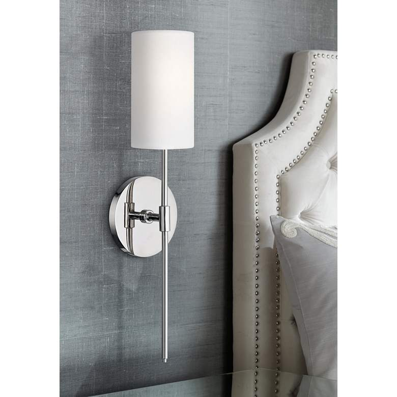 "Mitzi Olivia 18 3/4"" High Polished Nickel Wall Sconce"