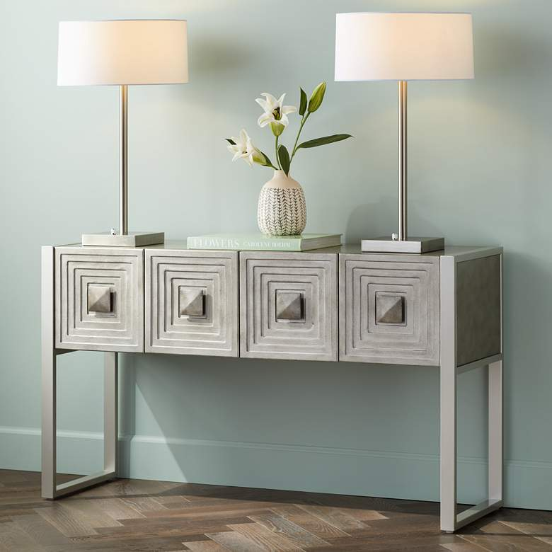 "Carrington 51 1/2"" Metallic Painted 4-Door Console Table"
