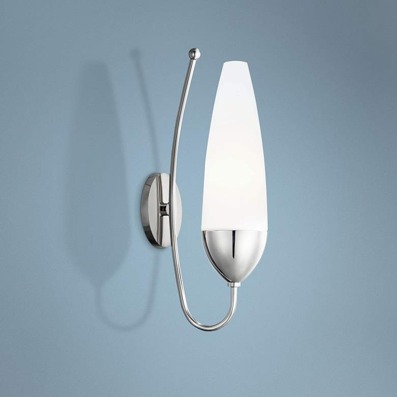 "Mitzi Amee 17 1/4"" High Polished Nickel Wall Sconce"