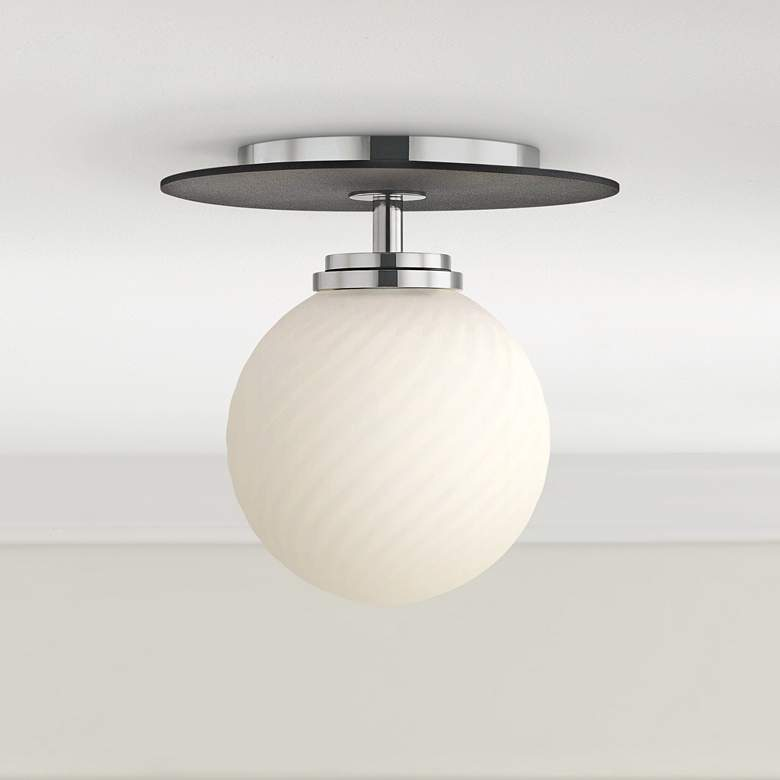 "Mitzi Ellis 7"" Wide Polished Nickel LED Ceiling"