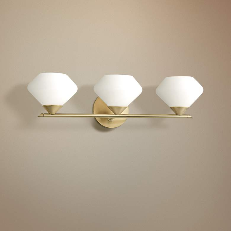 "Mitzi Valerie 21 3/4"" Wide Aged Brass 3-Light Bath Light"