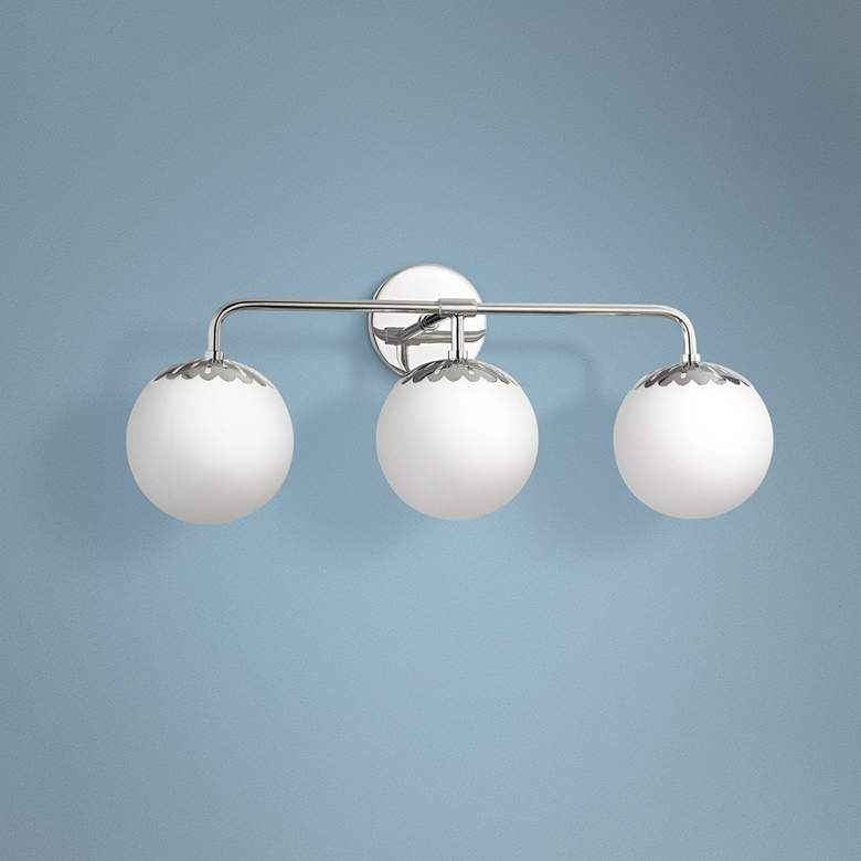 "Mitzi Paige 24"" Wide Polished Nickel 3-Light Bath Light"