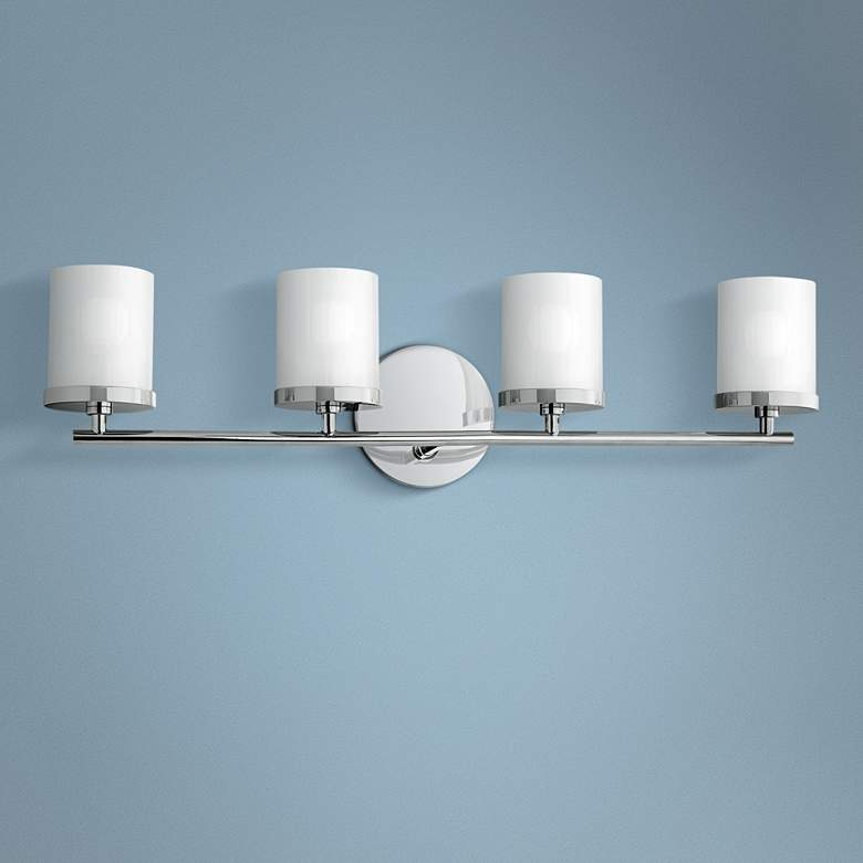 "Mitzi Ryan 24 3/4"" Wide Polished Nickel 4-Light Bath Light"