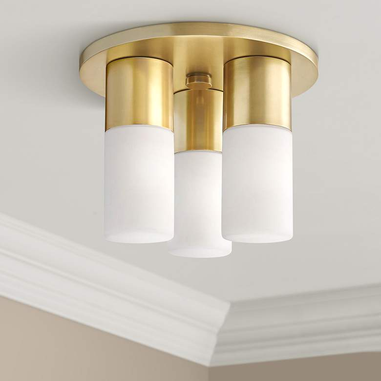 "Mitzi Lola 9 1/4"" Wide Aged Brass 3-Light"