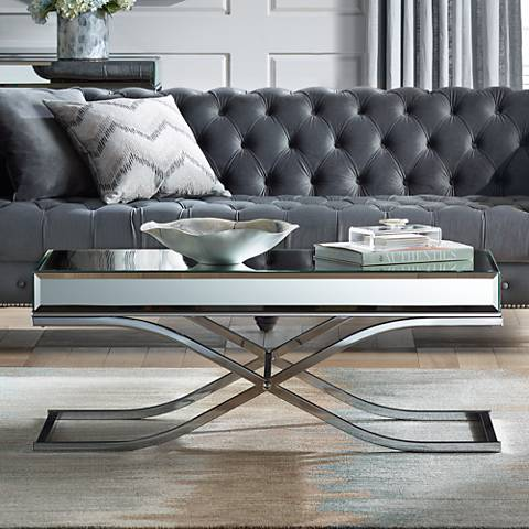 Concrete Coffee Tables Tables Lamps Plus - Concrete and chrome coffee table