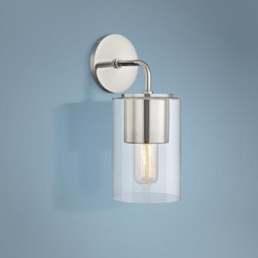 "Mitzi Lula 12 1/2"" High Polished Nickel Wall Sconce"