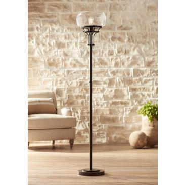 Franklin Iron Works Luz Torchiere Floor Lamp